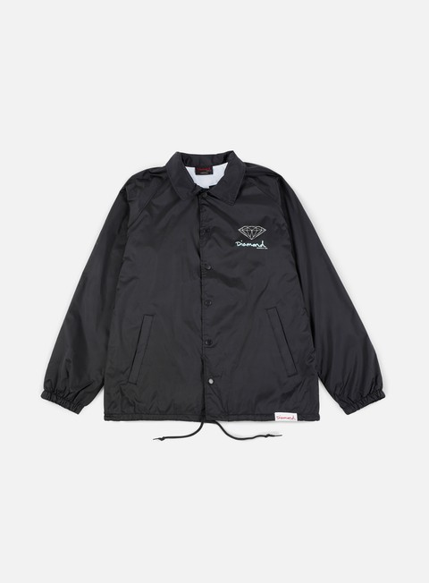 giacche diamond supply og sign core coaches jacket black