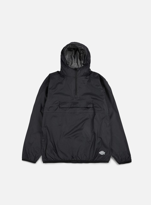 giacche dickies centre ridge pack away jacket black