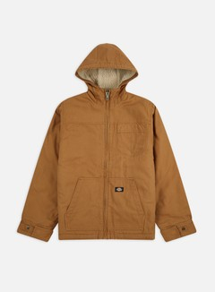 Dickies - Duck Sherpa Lined Jacket, Brown Duck