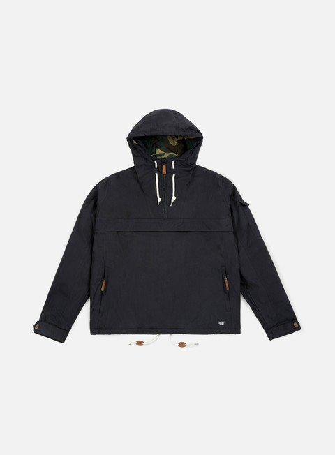 giacche dickies milford hooded jacket black