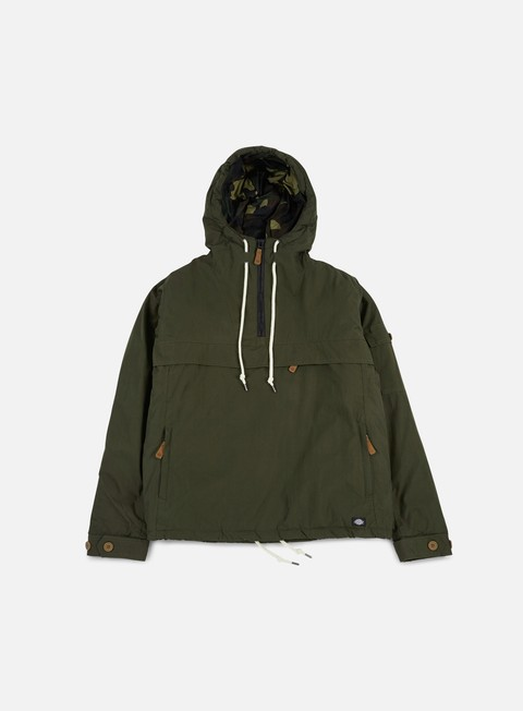 giacche dickies milford hooded jacket olive green