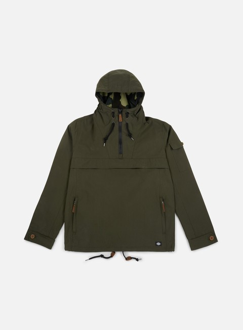 giacche dickies pollard hooded jacket olive green