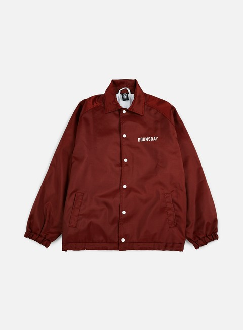 giacche doomsday death is certain coach jacket burgundy