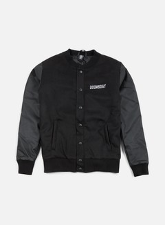 Doomsday - Death Is Certain Varsity Jacket, Black