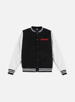 Doomsday - Free Mind Varsity Jacket, Black/White