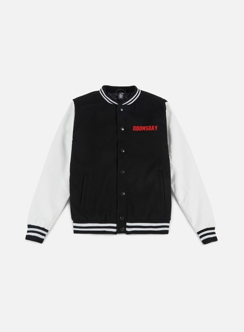 giacche doomsday free mind varsity jacket black white
