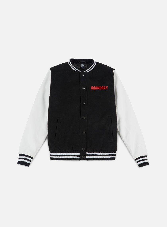 Doomsday - Free Mind Varsity Jacket, Black/White