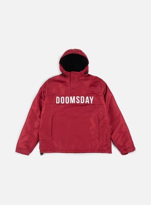 giacche doomsday hammerhead pullover jacket burgundy