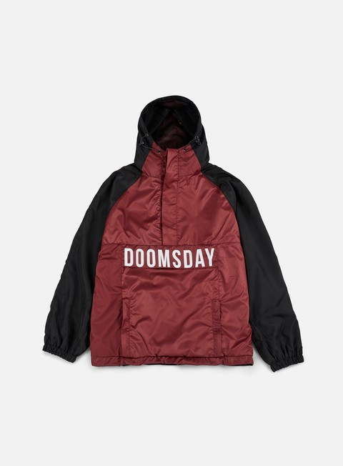 giacche doomsday hammerhead windbreaker black burgundy