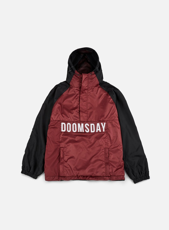 Doomsday - Hammerhead Windbreaker, Black/Burgundy