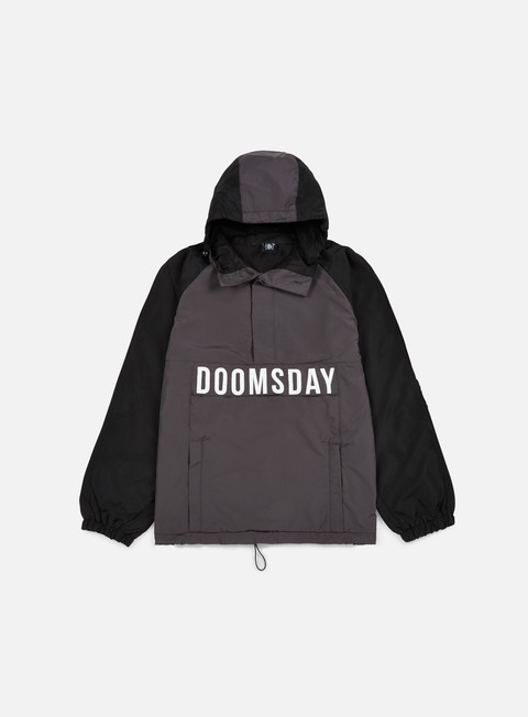 giacche doomsday hammerhead windbreaker black dark grey