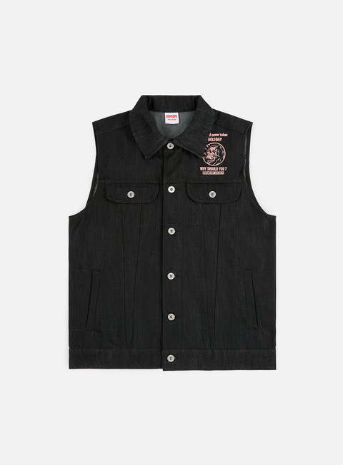 Doomsday Holy Death Sleeveless Denim Jacket