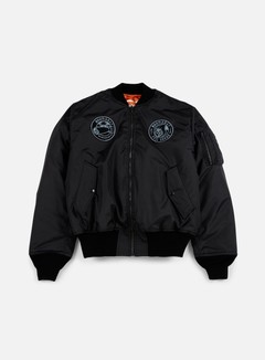 Doomsday - Reaper Lazer Reversible Bomber Jacket, Black/Orange 1