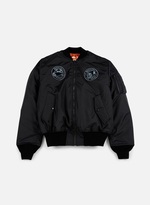 giacche doomsday reaper lazer reversible bomber jacket black orange