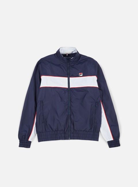 giacche fila amauri track jacket peacoat white