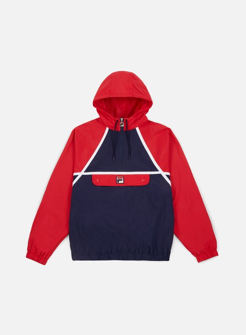giacche fila astor batwing jacket peacot red