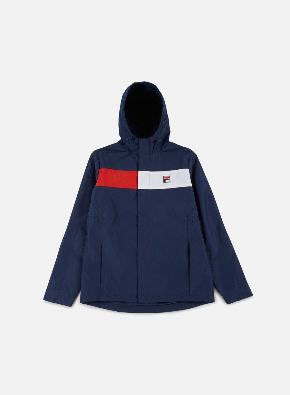 Fila - Cardova Hooded Jacket, Peacoat/Red/White