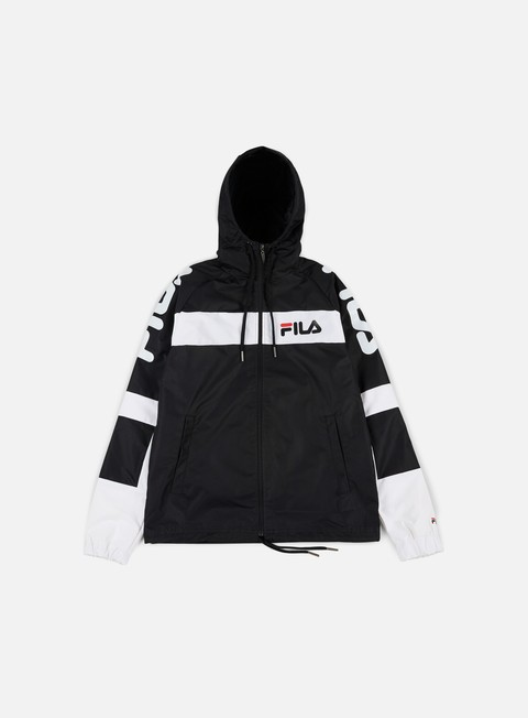giacche fila mason windbreaker black bright white black