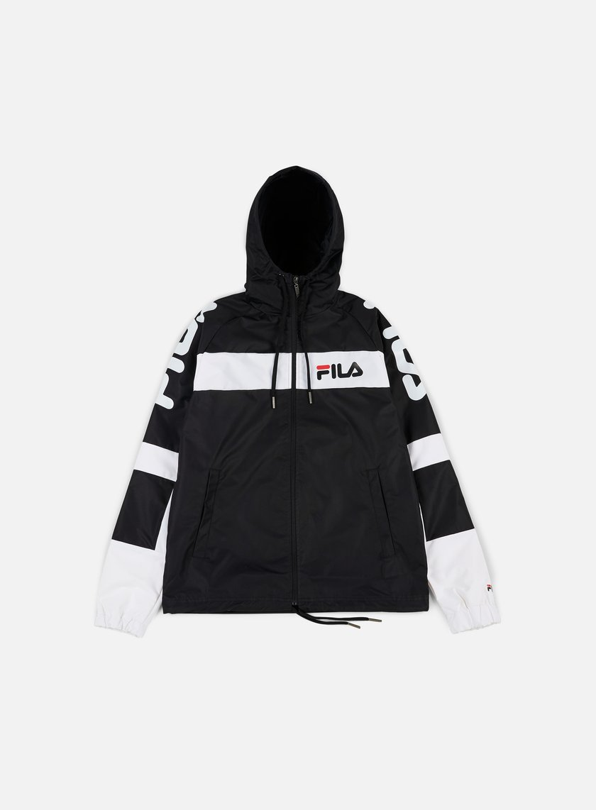 Fila - Mason Windbreaker, Black/Bright White/Black