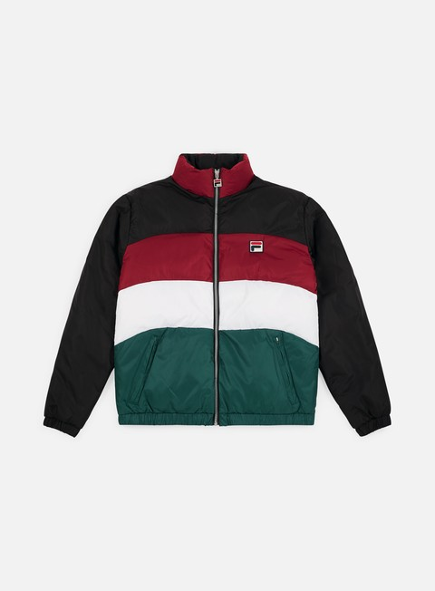 giacche fila neo colour blocked puffa jacket black