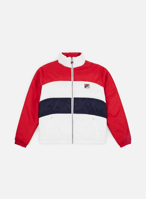giacche fila neo colour blocked puffa jacket chinese red