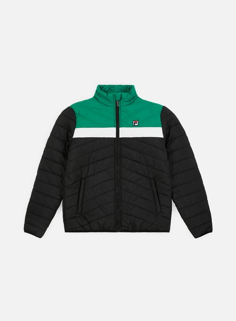 giacche fila piselli padded jacket black bright white shady glade
