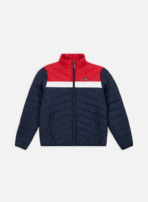 giacche fila piselli padded jacket black iris bright white true red