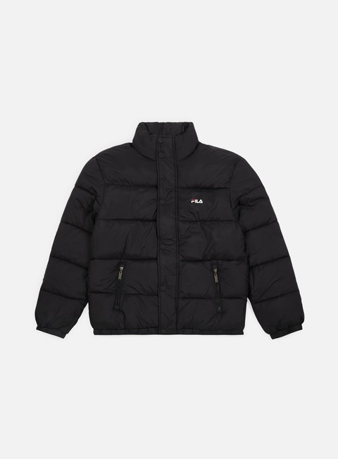 giacche fila raith puff jacket black