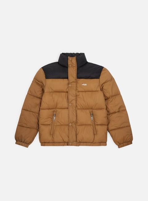 giacche fila raith puff jacket camel