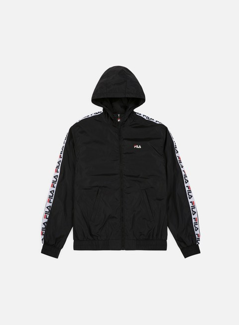 giacche fila tacey tape wind jacket black