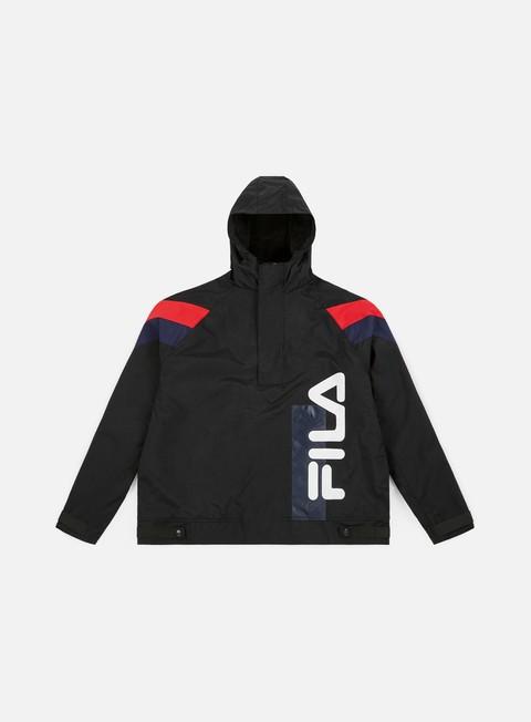 giacche fila tru faux lambswool lined jacket black