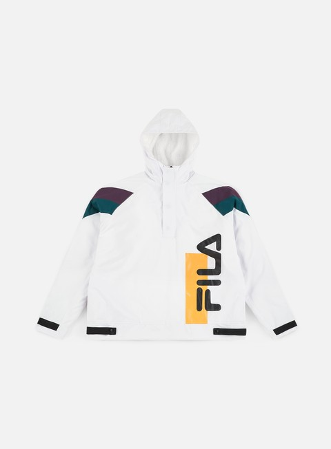 giacche fila tru faux lambswool lined jacket white