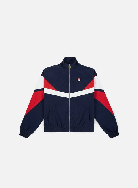 giacche fila wilco archive cut track jacket peacot red white