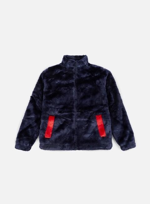giacche fila wmns arianna high neck fur jacket peacot