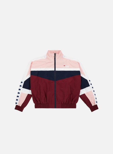 giacche fila wmns orlena woven track jacket tawny port