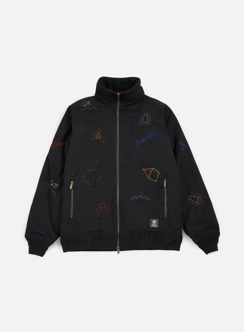 Franklin & Marshall - All Over Embroidered Jacket, Black