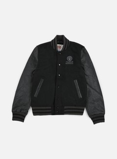 Franklin & Marshall - Logo Baseball Jacket, Black