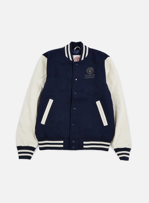 giacche franklin e marshall logo baseball jacket navy