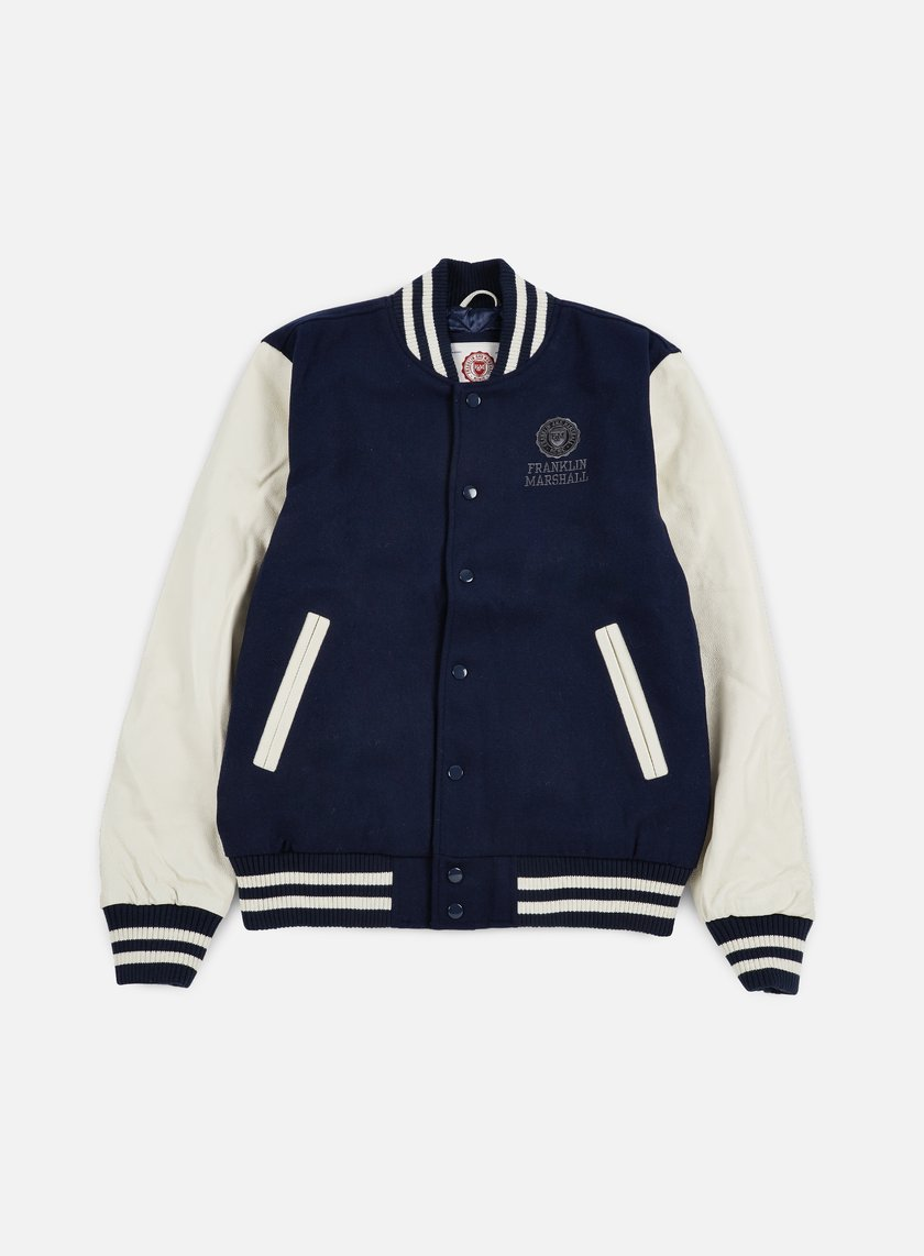 Franklin & Marshall - Logo Baseball Jacket, Navy