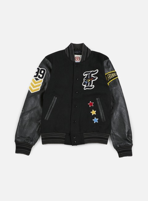 Bomber Franklin & Marshall Native Embroidered Baseball Jacket