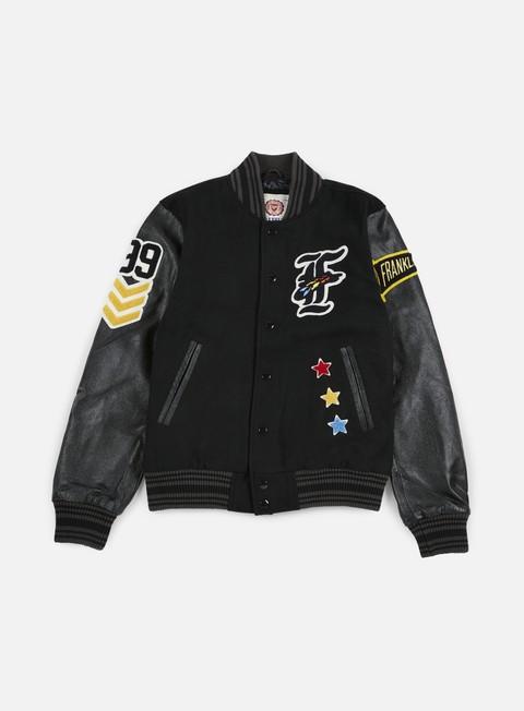 Bomber Jackets Franklin & Marshall Native Embroidered Baseball Jacket