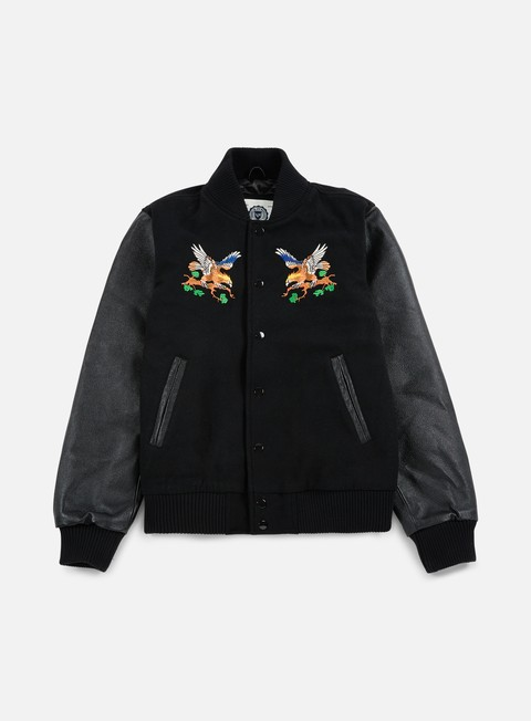 giacche franklin e marshall outdoor embroidered baseball jacket black