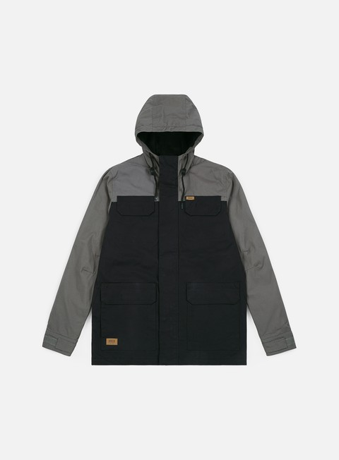 giacche globe goodstock blocked parka ii jacket black