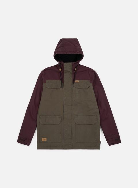 giacche globe goodstock blocked parka ii jacket dusty olive