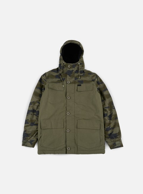giacche globe goodstock blocked parka jacket army