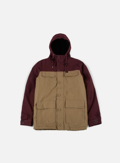 giacche globe goodstock blocked parka jacket cocoa