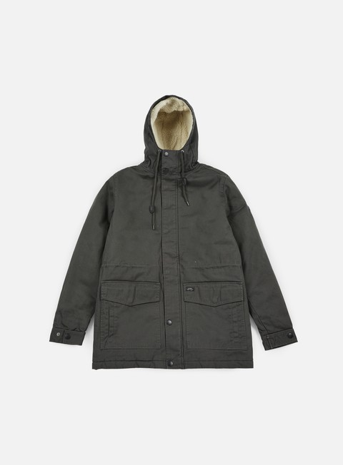 giacche globe goodstock thermal fishtail jacket dark olive