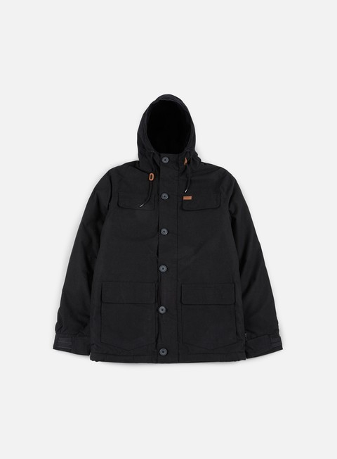 giacche globe goodstock thermal parka jacket black