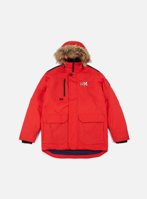 giacche helly hansen svalbard parka jacket flag red