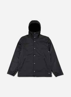 Herschel - Forecast Hooded Coaches Jacket, Black